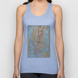Vintage Map of New York City (1900) Unisex Tank Top