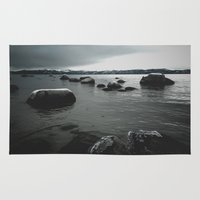rocks Area & Throw Rugs featuring Rocks by Bizzack Photography