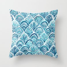 NAVY LIKE A MERMAID Throw Pillow
