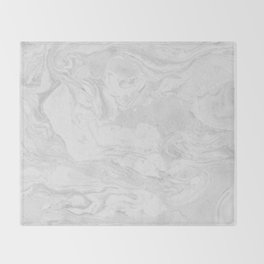 Grey marble Throw Blanket