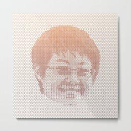Tessellated Portraits - J.C. Metal Print
