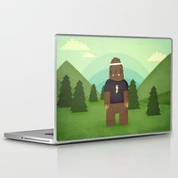 sasquatch Laptop & iPad Skins featuring sasquatch  by Pope Saint Victor