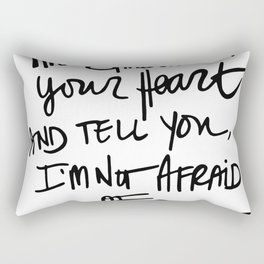 Quote, Andrea Gibson Rectangular Pillow