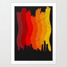 Liquefied City Art Print