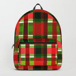 Christmas Plaid Backpack