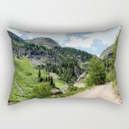 Old Wagon Road to the Silver Crown and Silver Cloud Gold Mines Rectangular Pillow