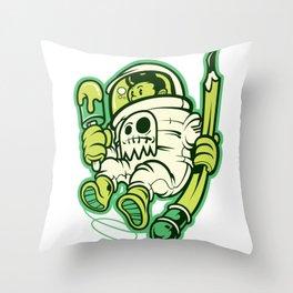 Astronaut Pop Art Throw Pillow