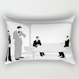 Business People at the Meeting Room Rectangular Pillow
