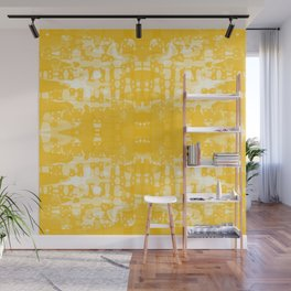 Yellow Tie Dye Jacobs Ladder Wall Mural