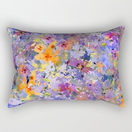 Yellow Primrose Garden Rectangular Pillow
