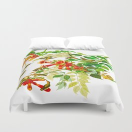 Ruby-throated Humming Bird Duvet Cover
