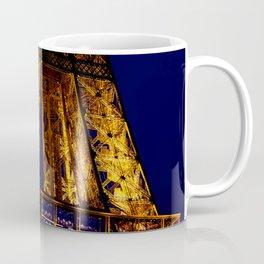 Close-up of Eiffel tower at nigh Coffee Mug