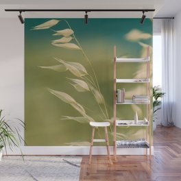 oats in soft breeze Wall Mural