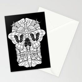 Moth Skull Stationery Cards