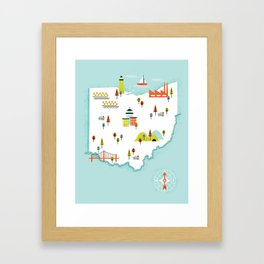 Ohio Map Framed Art Print