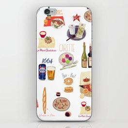 Paris Food Map iPhone Skin