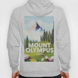 Mount Olympus, Greece, Travel poster Hoody
