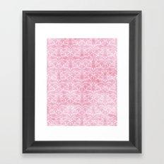 Shabby Damask Framed Art Print