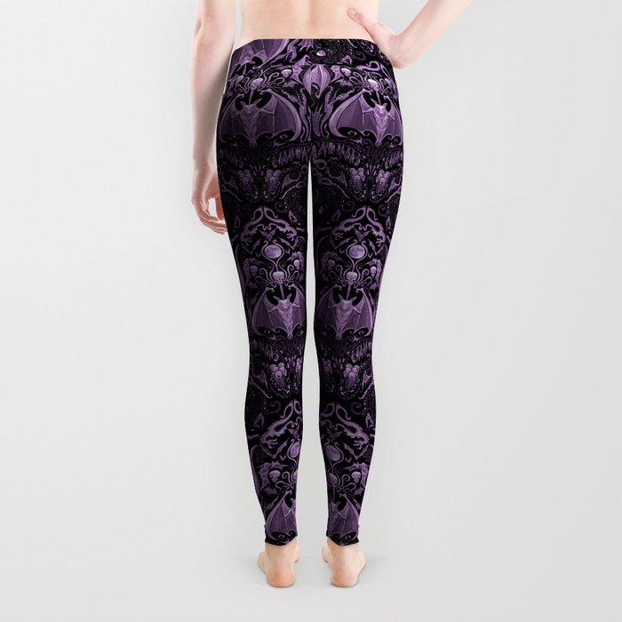 Bats and Beasts (Purple) Leggings