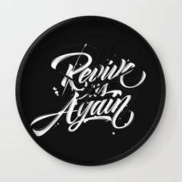 Revive us Again Wall Clock