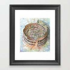 The Colosseo City Framed Art Print
