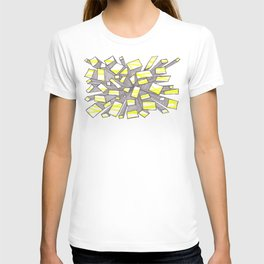 Yellow Fragmentation T-shirt