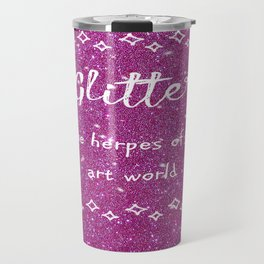 Quirky funny glitter - pink Travel Mug