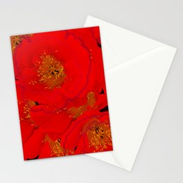 Abstract poppies 2 Stationery Cards