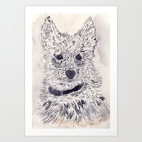 puppy Art Prints featuring Puppy by echoes
