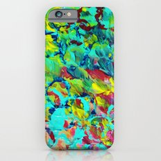 A LITTLE OF THIS - Bright Colorful Abstract Ocean Painting Circle Pattern Magenta Lime Fun Gift iPhone 6s Slim Case