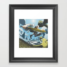 Wands Are For Wimps Framed Art Print