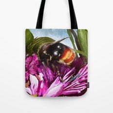 Bee on flower 9 Tote Bag