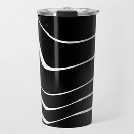Organic No. 10 Black & White #minimalistic #design #society6 #decor #artprints Travel Mug