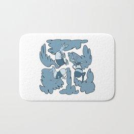 Fashion Po-Nays Blue Bath Mat