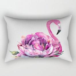 Flower Flamingo Rectangular Pillow