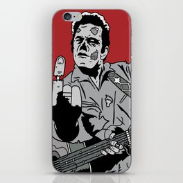 Johnny Cash Zombie Portrait Giving the Finger Print iPhone Skin