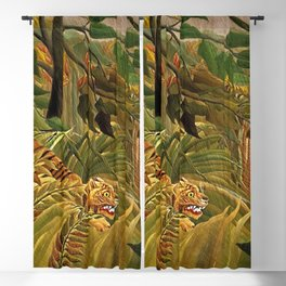 Tiger in a Tropical Storm - Surprised! by Henri Rousseau Blackout Curtain