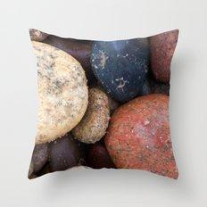 Lake Superior Beach Stones Throw Pillow