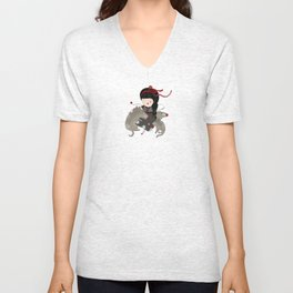 Wolf Angel Orfilia Unisex V-Neck