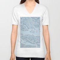 stockholm V-neck T-shirts featuring Stockholm  by Anna Eggertz