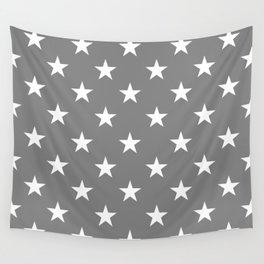 Stars (White/Gray) Wall Tapestry