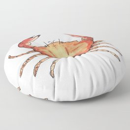 Crab: Fish of Portugal Floor Pillow