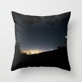 Gas Works Throw Pillow