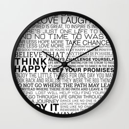 Life Manifesto Wall Clock