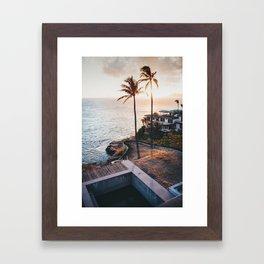 Hawaii Lookout Framed Art Print