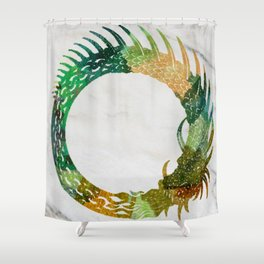 jörmungand Shower Curtain