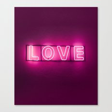 Love Neon Sign Canvas Print