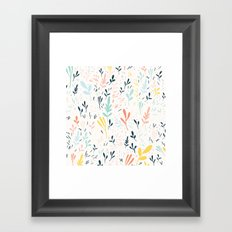 Plants and spikes Framed Art Print