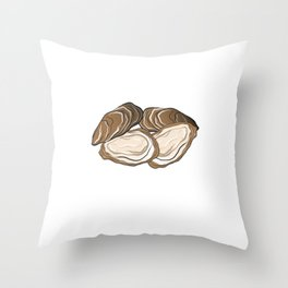 Seafood Lover Oysters And Beer Drinker Gift Throw Pillow