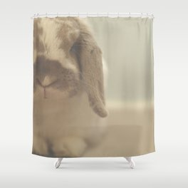 When The Bunny Calls, You Come. Shower Curtain